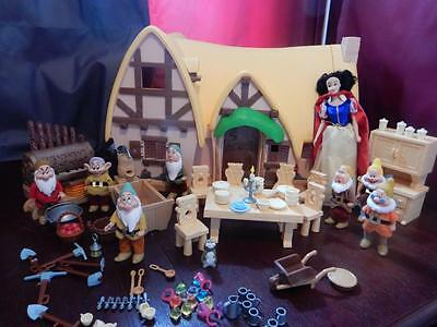 Snow White Doll & 7 Dwarves with Sounds+ Large House Furniture Accessories
