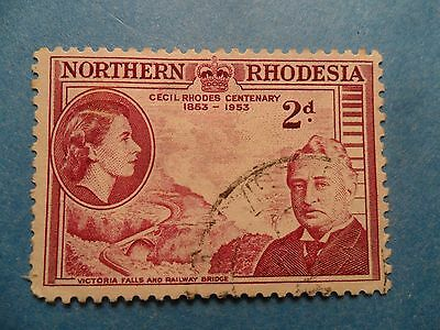 Northern Rhodesia. QE2 1953 2d Birth Centenary of Cecil Rhodes. SG56. Used.