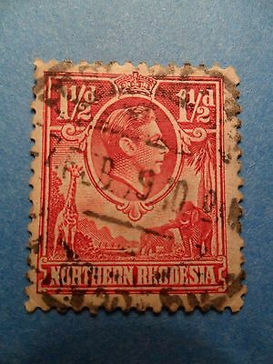 Northern Rhodesia. KGVI 1938 1½d Carmine-Red. SG29. P12½. Used.