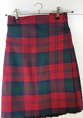 "Ex Hire 37"" waist 25"" drop Lindsay Modern  6 Yard Wool Kilt A1 Condition"