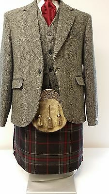 Harris Tweed & Spirit Of Bruce Modern 8 Yd Full Highland Dress Kilt Package Sale