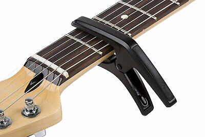 Genuine Fender Phoenix Acoustic or Electric 6-String Guitar Capo - BLACK