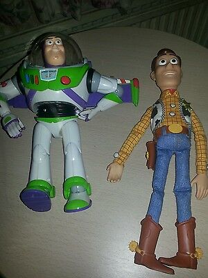 Woody and buz lightyear interactive toys