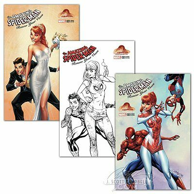 SPIDER-MAN RENEW YOUR VOWS #1 ALL NM+ 2016 J. SCOTT CAMPBELL 3 VARIANTS In-Hand!