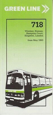 Original London Country Green Line Coach Timetable For Service 718 - May 1983