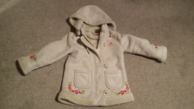 A Little Girls Fur Lined Coat Age 4 Years