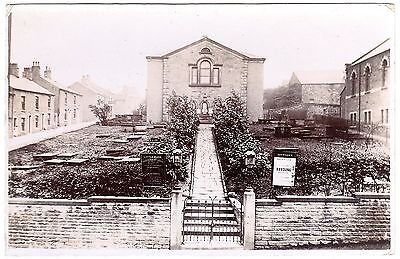 Rare Early Real Photo Postcard Little Moor Independent Chapel-Glossop-Derbyshire