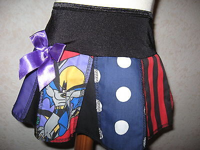 New Baby girls Black Blue Red Batman Striped spots pleated Skirt 12-18 M Party
