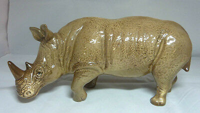 Vintage Sylvac Pottery Large Rhinoceros Figurine - Model 5166 - Rhino