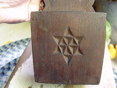 Small Primitive Antique Wood Candle Box Wall Mount Folk Art Carved WOW!