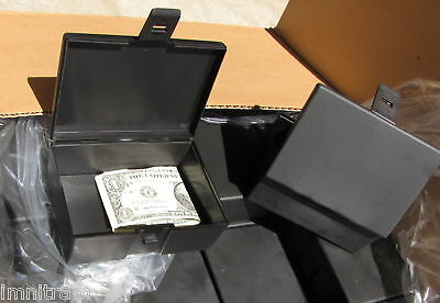 115 black plastic hinged box with latch 5 x 3-3/4 x 2  Made in USA!!!