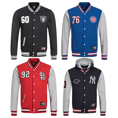 Majestic Jacke Yankees Cups Raiders Cardinals MLB Baseball Letterman College neu