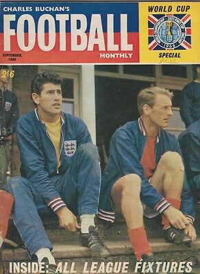 Charles Buchan's Football Monthly Magazine September 1966 - World Cup 1966