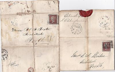 1851/2 Phoenix Iron Works & Hyde Park Foundry Glasgow Letters To Perth Architect