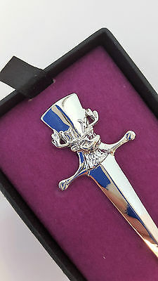 Scottish Stag Chrome Kilt Pin New Gift Boxed Sale Price