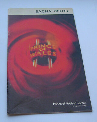 Sacha Distel at Prince of Wales Theatre programme 1972