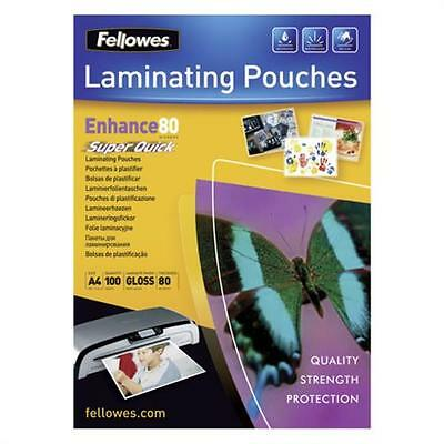 Fellowes Laminating Pouches SuperQuick Enhance 80 micro # 5440001