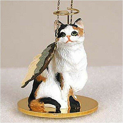 Calico Cat ANGEL Tiny One Ornament Figurine Statue