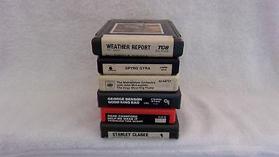 Six 8 Track Tapes - Weather Report / Crawford / Benson / Clarke / Spyro Gyra