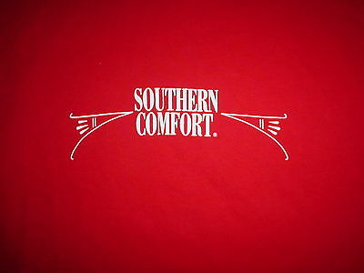 SOUTHERN COMFORT Bourben Whiskey Logo NEW Red Promo Large L T SHIRT