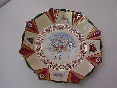 Villeroy & Boch Christmas Candy Dish/Plate #1748 Deers Excellent  No Reserve