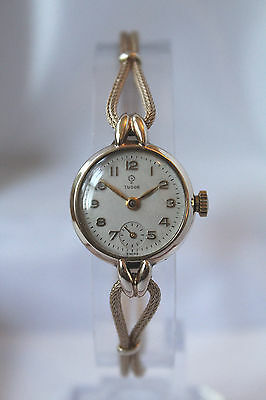 TUDOR by ROLEX - SOLID GOLD 9ct (375) LADIES VINTAGE WATCH - SUPERB - NO RESERVE