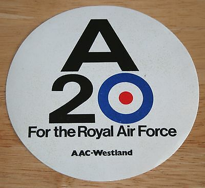 Old RAF Royal Air Force A20 Sticker
