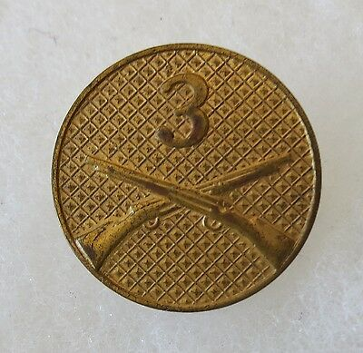 3rd INFANTRY REGIMENT - ORIGINAL Post WW1 Vintage US ARMY TYPE II EM COLLAR DISK