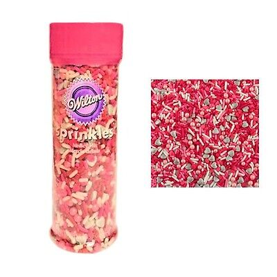Valentine Medley Mix Sprinkles 3.6 oz from Wilton #1970- NEW