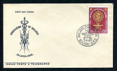 India Cover, FDC, World Fight Against Malaria 1962. x23222
