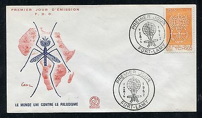 Chad Cover,  FDC, World Fight Against Malaria 1962. x23234