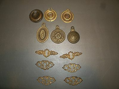 Vintage Key Hole Cover Lot Victorian Door Part Steampunk Art Industrial Hardware