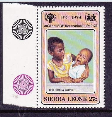 Sierra Leone 1979 African sister with baby brother  SG609 MNH