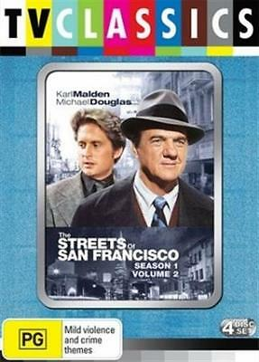 STREETS OF SAN FRANCISCO, THE Season 1: Vol 2 (DVD, 2009, 4-Disc Set) NEW