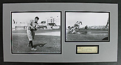 Ty Cobb Authentic Signed & Matted 1.25x3.75 Cut Signature PSA/DNA #AB06837