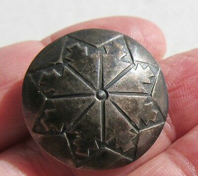 Vintage Southwestern Sterling Silver Navajo Concho Old Pawn Button