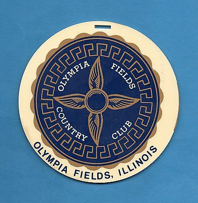 1970's-80's OLYMPIA FIELDS COUNTRY CLUB Illinois Top 100, 2 U.S. Open-Member tag