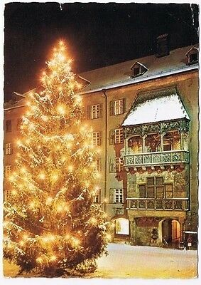 Austria Postcard Innsbruck in Winter Christmas Tree