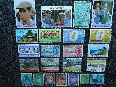 Collection/mixture Of St Vincent Stamps