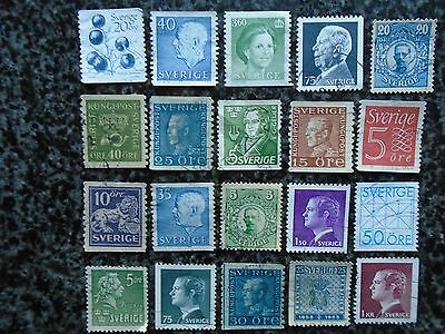 Collection/mixture Of Sweden Definitive Stamps