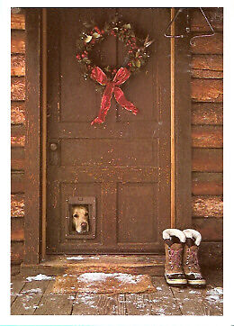 Golden Retriever Peering Out Christmas Cards - Box of 10