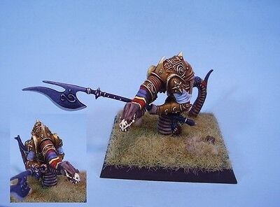 Confrontation painted miniature Ophidian Warrior (30 day listing)