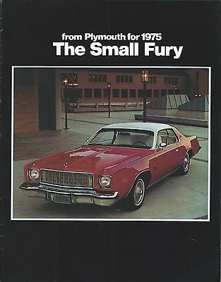 Auto Brochure - Plymouth - The Small Fury - Sport Custom - 1975  (A1089)