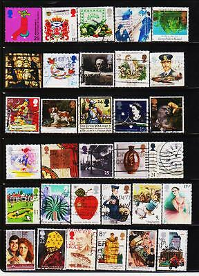 Great Britain Uk 160 Different Used Stamps Collection Lot #21