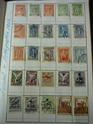 GREECE 1914-60  Collection of 200 stamps unduplicated  MINT Commems & definitive