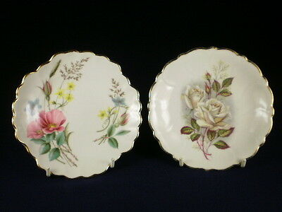 Adderley Small Floral Dishes X 2