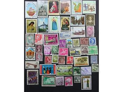50 worldwide stamps, 50 different countries of the world. A great start.