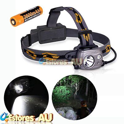 【AU】Fenix HP25R Cree XM-L2 U2 1000 Lumens Headlamp Head Torch + 18650 Battery