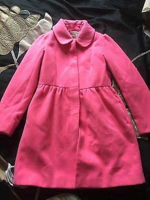 Next Girls Pink Coat 7-8 Years Immaculate Condition