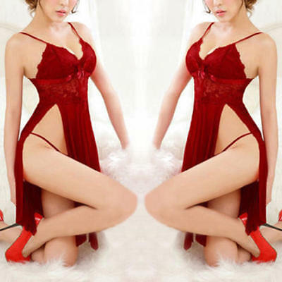 Hot Women's Lingerie Babydoll Sleepwear Underwear Lace Dress G-string Nightwear